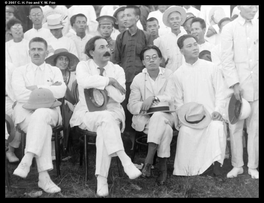 Wang Jingwei, Mikhail Borodin and Zhang Tailei, ca. 1925-26