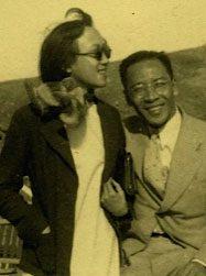 Chan Cheong-Choo photographed with Wang Wenxing, ca. 1930