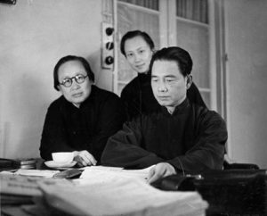 Chen Bijun, Wang Wenxing and Wang Jingwei in Hankou, 1937,